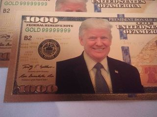 3 Donald Trump Gold Foil 1000 Bills