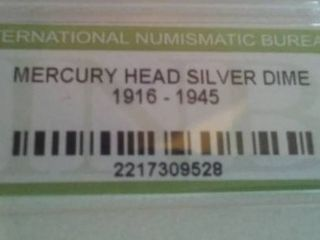 Mercury Silver Head Dime 1915 - 1943