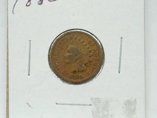 1880 Indian Head Penny Coin