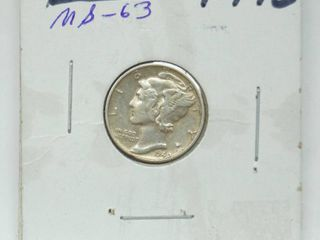 1940 Mercury Silver Dime