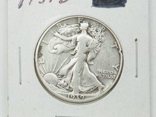 1939 D American Eagle Silver Dollar Coin