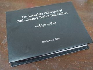 Complete Collection of 20th Century Barber Half Dollars   In Collector s Book   WOW  Must see
