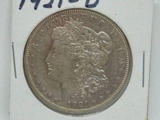 1921 D Morgan Silver Dollar Coin