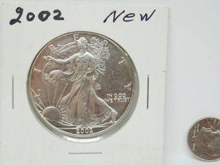 2002 American Eagle Silver Dollar Coin