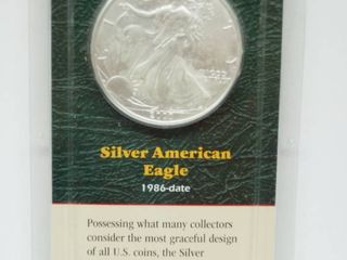 1991 American Eagle Silver Dollar Coin