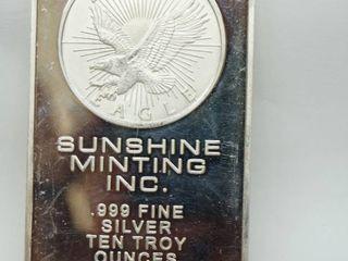 10 oz  Silver Bar   Sunshine Minting Inc  WOW