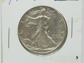 1929 liberty Silver Half Dollar Coin