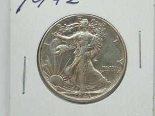 1942 liberty Silver Half Dollar Coin