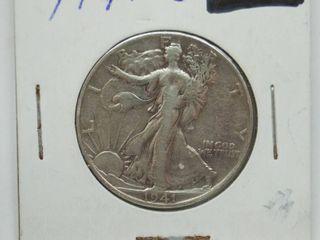 1941 liberty Silver Half Dollar Coin