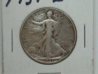 1937 S liberty Silver Half Dollar Coin