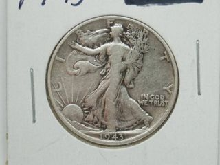 1943 liberty Silver Half Dollar Coin