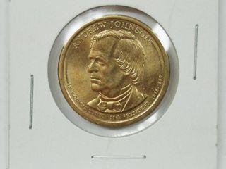 1865 1869 Andrew Johnson Dollar Coin