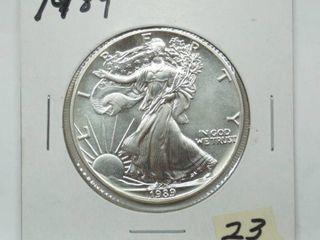 1989 American Eagle Silver Dollar Coin