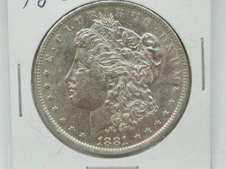 1881 O Morgan Silver Dollar Coins