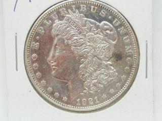 1921 Morgan Silver Dollar Coins