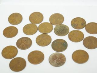 lot of 20   1950s Wheat Pennies