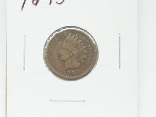 1893 Indian Head Penny Coin