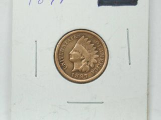 1897 Indian Head Penny Coin