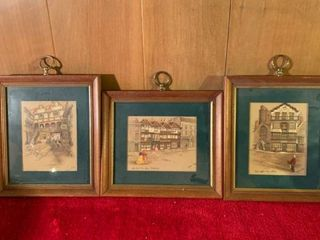 3 Small Clyde Cole Framed Wall Art location lR Shelf A