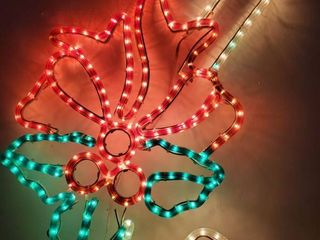 Christmas light up Candy Cane with Bow  Tested and Working