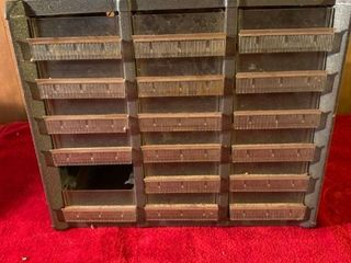 Craftsman 18 Drawer Parts Organizer Missing Filled With Crystals One Drawer location lR Shelf A