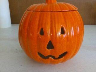 Vintage Ceramic Pumpkin With Removable lid