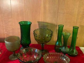 lot of Green Glasseare location lR Shelf B
