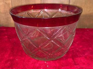 Red and Clear Glass Ice Bucket location lR Shelf B