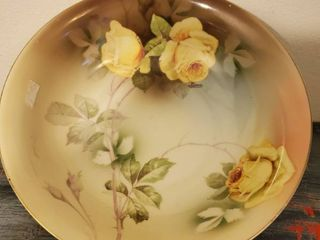 Hand Painted Bavarian Yellow Floral Bowl