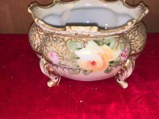 Pretty Floral Footed Bowl location lR Shelf B