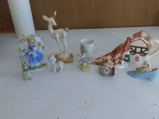 lot Of 10 Varying Ceramic Household Decorative Pieces
