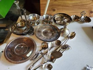 lot of Miscellaneous Silver Plated Dishware