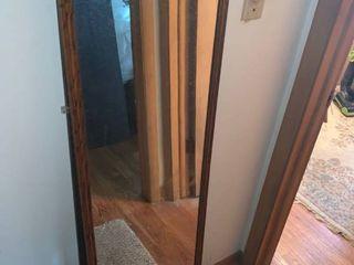 56 x 16 Inch Wood Framed Mirror location Hall