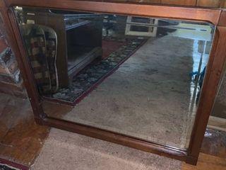 Antique Wooden Framed Mirror location lR