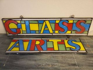 GlASS ARTS 2 piece Sign