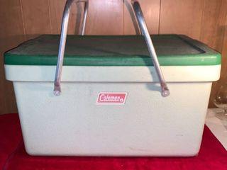 Vintage Green Rubber Coleman Cooler location lR Shelf A