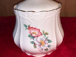 House of Webster Briar Rose Ceramic Cookie Biscuit Canister location lR Shelf A