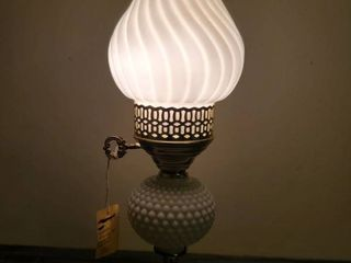 Hobnail Milkglass Plug in light  Tested and Working