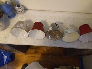 Nice lot Of 7 Varying Small lamp Shades