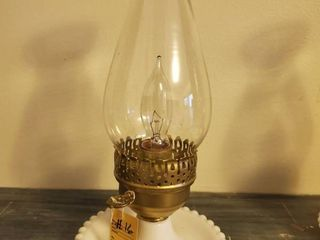 Small Hobnail Milk Glass lantern Style Plug In lamp Tested and Working