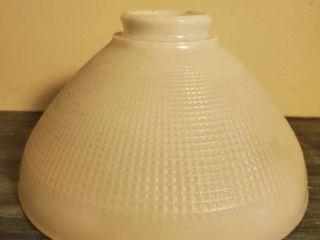 Single Grid like Pattern Milk Glass lamp Shade
