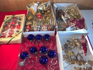 large lot of Christmas Ornaments location lR Shelf A