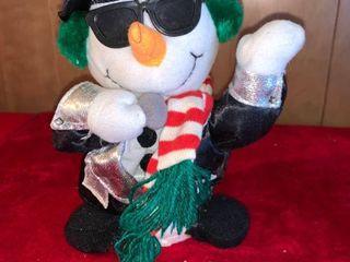 Singing Dancing Rock N Roll Snowman Works location lR Shelf A
