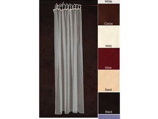 Mombasa Sheer Netting Tab Top 87 inch Curtain Panel Pair