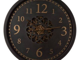 Glitzhome 22 8 D Morden Metal Wall Clock with Moving Gears