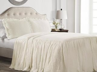 lush Decor Ruffle Skirt Bedspread Set  Retail 75 28