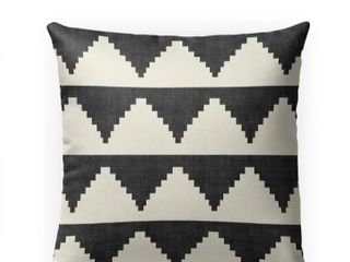 lASH BlACK and WHITE Indoor Outdoor Pillow by Kavka Designs   18X18