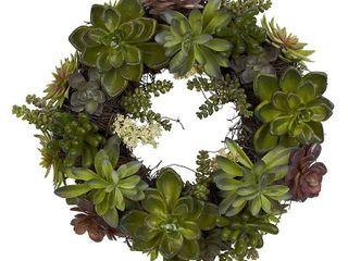 Round 20 inch Succulent Wreath