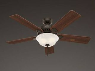 Hunter Regalia Ii 60 in Satin Bronze led Indoor Ceiling Fan With light Kit