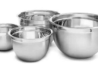 BM Home Deep Professional Heavy Duty Quality Stainless Steel Mixing Bowls  Set of 4